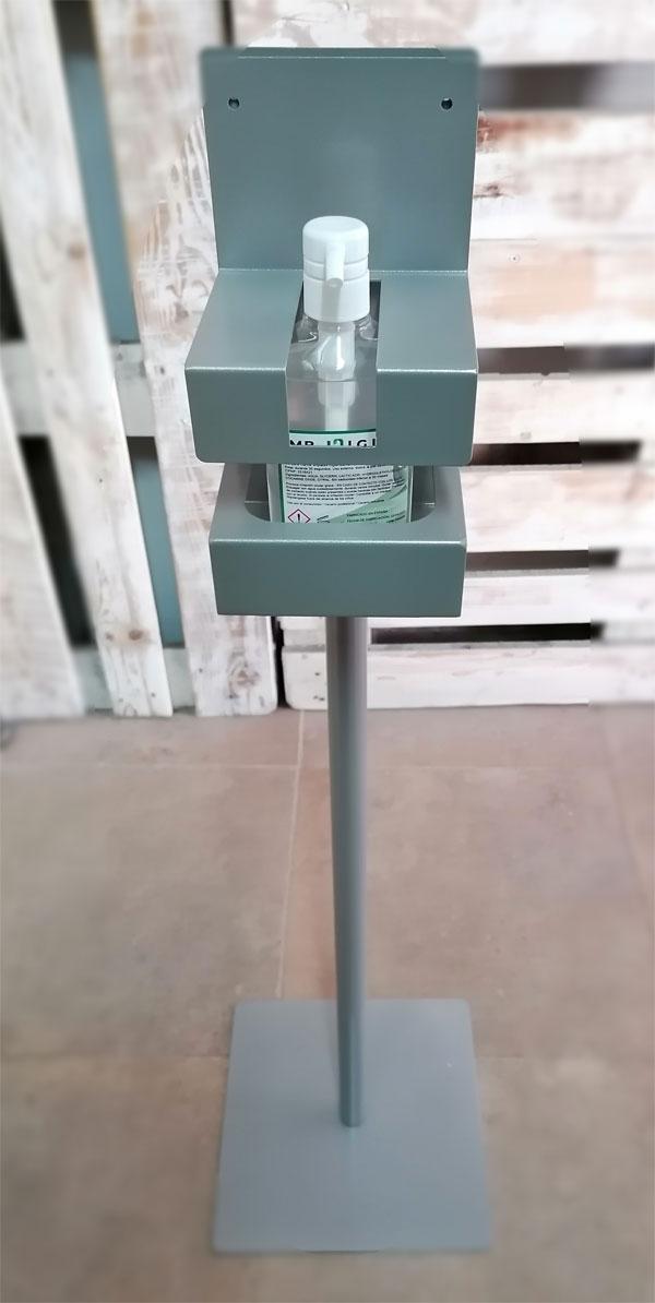 soporte gel pie 112cm frente